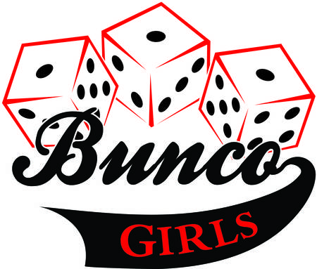 Bunco starts with a roll of the dice  What a fun visual for a the bunco babes night out 向量圖像