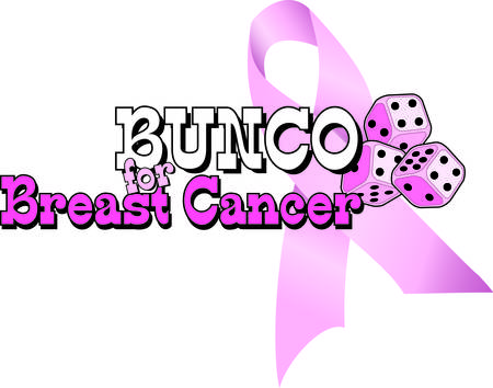 Bunco starts with a roll of the dice  pink dice no less  These pink dice are a great element of a breast cancer awareness campaign with your bunco group. Illustration