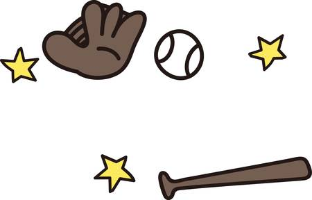 hardball: Love baseball  This design is a perfect choice for you  This little drawing style design is just perfect for the little sluggers apparel or use it on a sports bag and add a name with our instant lettering. Illustration