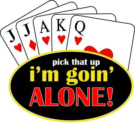 Vincente eucre mano. Questo gioco di carte tricktaking è un favorito e sicuro di aggiungere appello al vostro capo o tessili progetti. Archivio Fotografico - 40657624