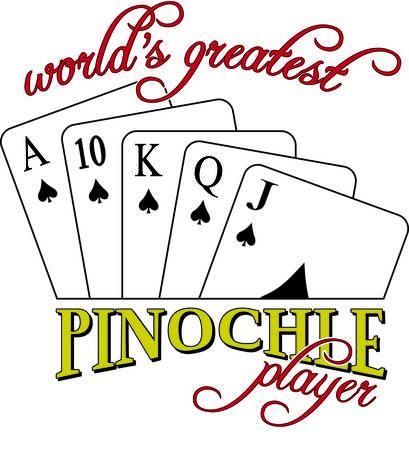 Pinochle jemand Dieses tricktaking Kartenspiel ist ein beliebtes und sicher, Appell an Ihr Kleid oder Textil-Projekten hinzufügen. Standard-Bild - 40657670