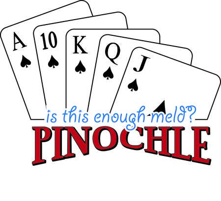 Pinochle jemand Dieses tricktaking Kartenspiel ist ein beliebtes und sicher, Appell an Ihr Kleid oder Textil-Projekten hinzufügen. Standard-Bild - 40657698
