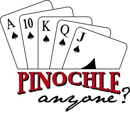 anyone: Pinochle anyone  This tricktaking card game is a favorite and sure to add appeal to your garment or textile projects.