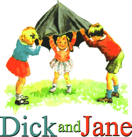 The learn to read classic tales of Dick and Jane come to life in realistic watercolor.  The children of days gone by bring their special charm to your project. Ilustrace