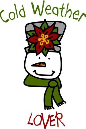 Our snow lady is simply lovely.  She has the prettiest hat for the holiday season complete with a holiday flower decoration  We love her on your holiday dcor