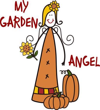 gifting: Un espantap�jaros m�s inusual con un mont�n de encanto del pa�s Esta princesa jard�n se ve simplemente encantador en una camiseta especial para regalar a un jardinero.