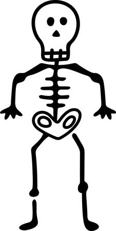 holiday celebrations: A not so scary but styling skeleton makes a fun embellishment for your spooky creations for the season.   Try it on the left chest of a traditional polo shirt