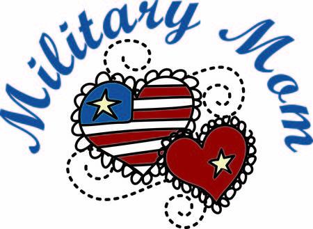 wiedererkennen: Patriotischer Entwurf Herzen erkennen die Milit�r mom in besonderer Weise. Die Wirbel, die die beiden Herzen machen diesen Entwurf trendy und sch�n.