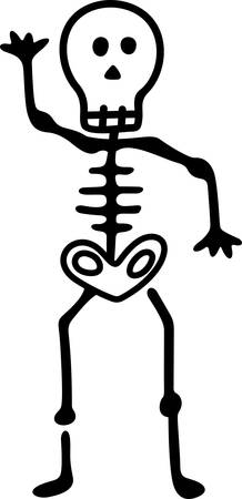 A not so scary but styling skeleton makes a fun embellishment for your spooky creations for the season.   Try it on the left chest of a traditional polo shirt