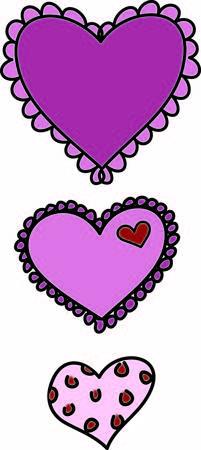 Deze rij van de harten is een mooie manier om familie liefde te visualiseren. De veranderingen in het ontwerp en de grootte tussen elk hart maken dit een super interessante en eyecatching design. Stock Illustratie