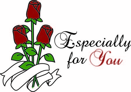 brings: A bouquet of roses brings love and happiness.  Add a special message on the ribbon banner for a custom touch Illustration