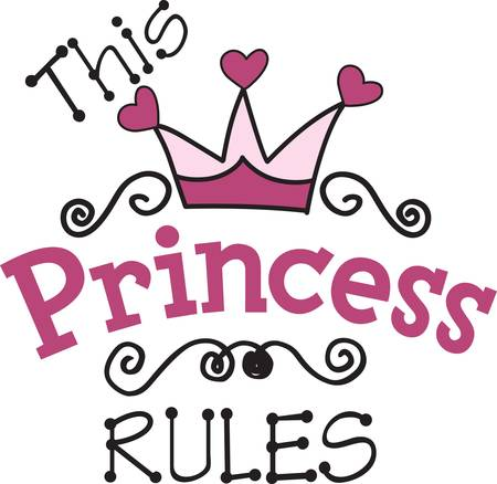 Every little princess needs their own regal gear.  Decorate apparel and room decor with a design perfect for the aspiring princess
