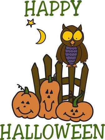 jack o  lanterns: Our smiling jack o lanterns have found a special friend to celebrate the season with.  Add these spooky friends to your special Halloween wear. Illustration