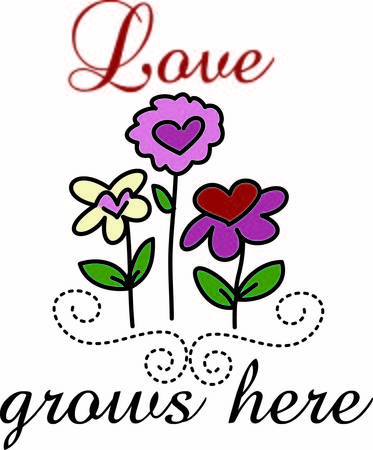 wherever: A garden of hearts make love grow wherever you choose to display them.  This is both a great springtime design and Valentine decoration