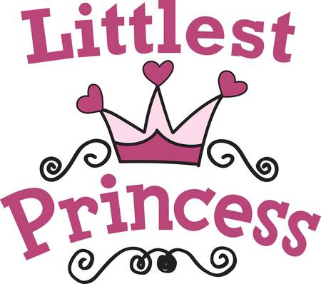 aspiring: Every little princess needs their own regal gear.  Decorate apparel and room decor with a design perfect for the aspiring princess
