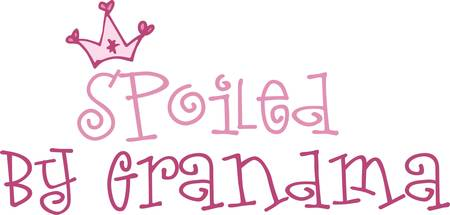 spoiled: Every spoiled princess needs their own regal gear.  Decorate apparel and room decor with a design perfect for the aspiring princess
