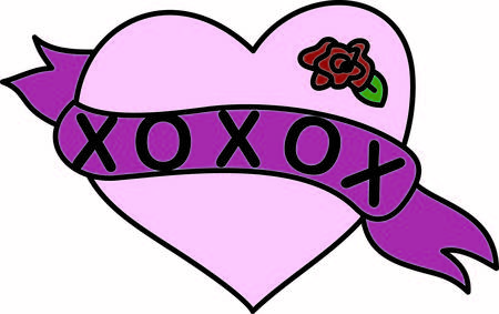 rose tattoo: This trendy heart with banner and rose bloom is a tattoo artist favorite.  You can use it for creating the most heartfelt embellishing you can imagine