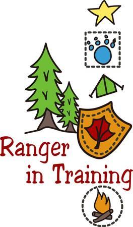 """ranger: """"I programmi Junior Ranger aiutare i bambini imparano a conoscere la nostra regione selvaggia e come proteggerlo. Crea una giacca speciale con questo disegno per il vostro piccolo ranger."""""""
