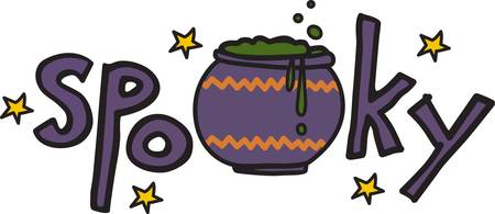 dcor: Having a Halloween party for the little goblins  Here is a perfect graphic to add to your party dcor Illustration