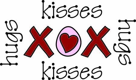 포옹과 키스 일러스트