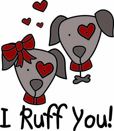 mutt: Questo amore cucciolo appare come la cosa reale con il cuore di tutto. Amiamo la bambina cani grande arco rosso