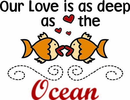 smooch: Estos peces comparten un tipo especial de amor y un gran beso Este dise�o parece estar enmarcada por el remolino de fondo encantadora casi un efecto de agua