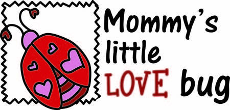 adds: A sweet and loveable lady bug adds some affection to your work.  The zig zag border adds the feel of a stamp for a fun special effect.