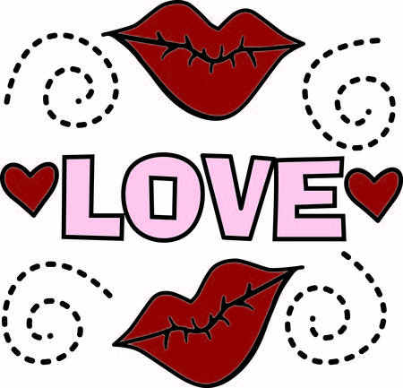 possibilities: Hot red lips create a sensuous look.  Combined with hearts and the possibilities are endless for a clever design whose possibilities are endless