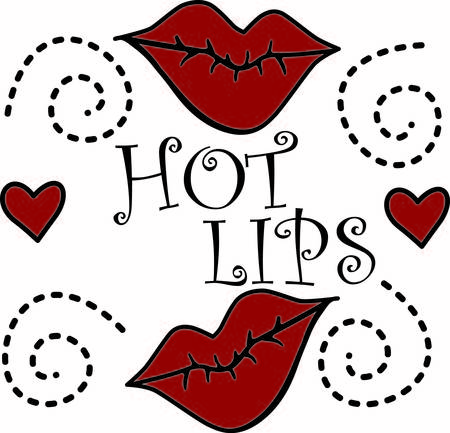 뜨거운 빨간 입술은 감각적 인 표정을 만듭니다. 마음과 결합하여 가능성은 무한한 영리한 디자인을 위해 끝이 없습니다.