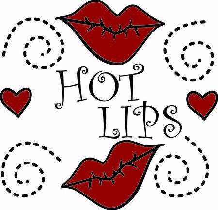 whose: Labbra rosse calde creano un look sensuale. Combinato con i cuori e le possibilit� sono infinite per un design intelligente le cui possibilit� sono infinite