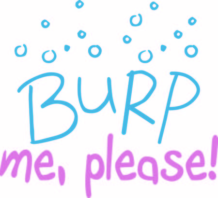 loudest: This cute burp text and graphic is just what you need to decorate burp cloths and bibs.  Amazing baby gifts Illustration