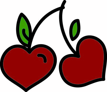 especially: Twin cherries are such a cute way to create amazing projects.  These are especially sweet with their heart shape