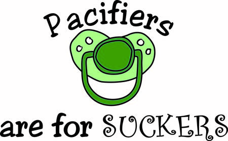 required: What a cute little pacifier for the little guy.  No baby collection is complete without this required item Illustration