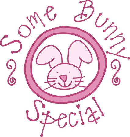 Add a touch of bunny love to your baby gear.  Perfect for burp cloths and blankies