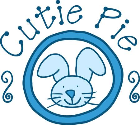 coney: Add a touch of bunny love to your baby gear.  Perfect for burp cloths and blankies
