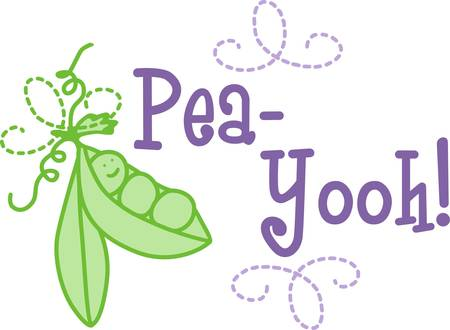 What a sweetie  just a little sweet pea  Add this fun little pod of peas to a gift for baby Stock Illustratie