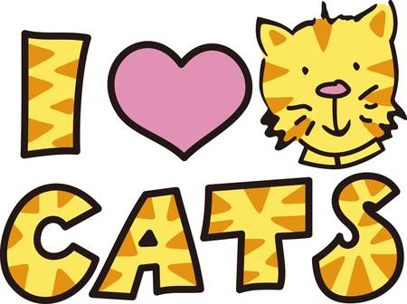 companion: Here s the perfect design for the cat lover.  The cute kitty and kitty print letters make the design so very cute