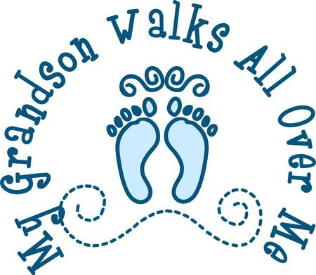 Welcome the pitter patter of little feet with these cute little prints on a baby gift fit to become a keepsake.  Add a name for a very custom creation.