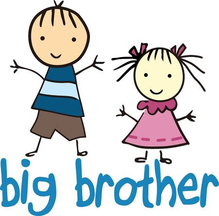 big figure:  Brothers and sistersare as close as hands and feet collect their pictures form concord designs   Illustration