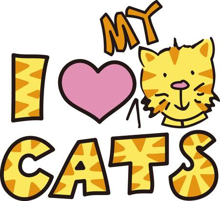 companions: Here s the perfect design for the cat lover.  The cute kitty and kitty print letters make the design so very cute
