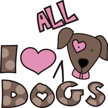 Hier is het perfecte ontwerp voor de hondenliefhebber. De lieve pup en stipdruk letters maken het ontwerp, zodat heel schattig Stock Illustratie