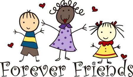 Being  friends forever is my gift collect this from concord designs   Illusztráció