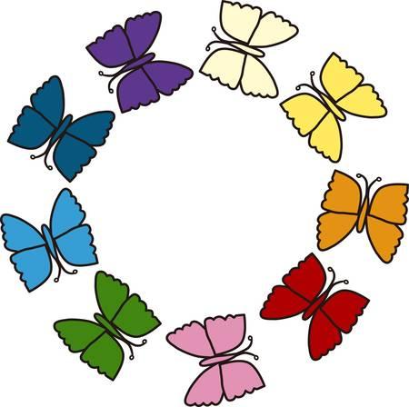蝶美自由の普遍的なシンボル、復活がコンコードでこれらのデザインを選ぶ  イラスト・ベクター素材