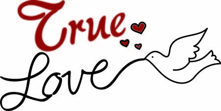 This lovely graphic of stylized text and a dove is just perfect for weddings and bridal showers.  Tiny hearts seem to say love is in the air. Vettoriali