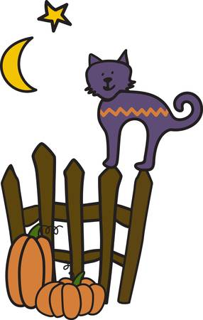 flair: Our Halloween kitty is decorated with a fun chevron pattern to add a trendy flair to your Halloween gear.  He makes for super fun party decorating.