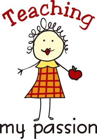 those: Theappleis a symbol forteachersandteachingcollect those pictures form concord designs   Illustration