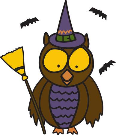Halloween is such fun even our little owl is getting into the dress up act  This fun little owl is an amazing decoration for trick or treat apparel.