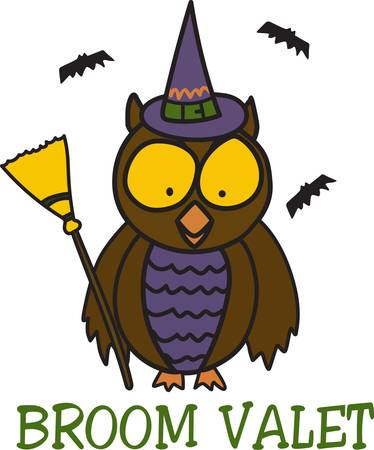 valet: Halloween is such fun even our little owl is getting into the dress up act  This fun little owl is an amazing decoration for trick or treat apparel.