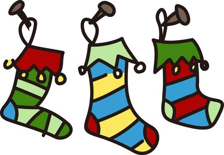 might: Get this exclusive stockings design to add to your Christmas festivity. Santa might stop by