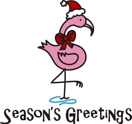 says: Nothing says Christmas as a Pink Flamingo. Here is an exclusive collection of Pink Flamingo for your Christmas celebrations. Illustration
